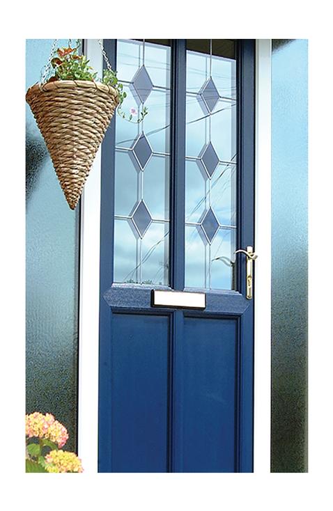 blue upvc doors